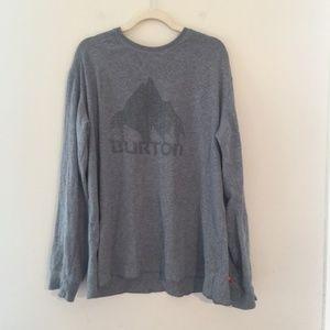 Burton Gray Long Sleeve Logo Pullover Sweatshirt